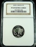 2005 S BISON JEFFERSON NICKEL NGC PROOF 69 ULTRA CAMEO