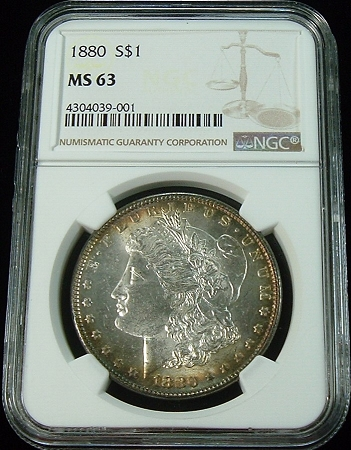 1880-P $1 Morgan Silver  Dollar NGC MS63