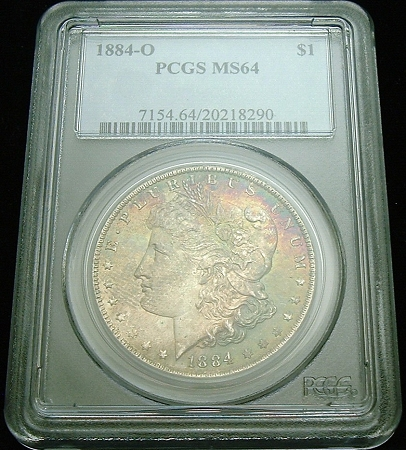 1884 O Morgan Silver Dollar MS62 PCGS United States Mint Coin
