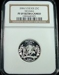 2006 S SILVER NEVADA STATE QUARTER NGC PROOF 69 ULTRA CAMEO /071