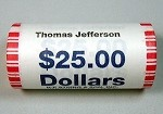 2007 D THOMAS JEFFERSON PRESIDENTIAL DOLLAR SHOTGUN ROLL OBW