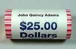 2008 D JOHN QUINCY ADAMS PRESIDENTIAL DOLLAR SHOTGUN ROLL OBW
