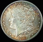 1883 CARSON CITY MORGAN SILVER DOLLAR BEAUTIFUL COLOR TONE