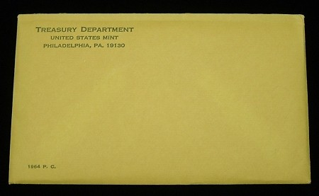 1964 UNITED STATES SILVER PROOF SET SEALED ENVELOPE