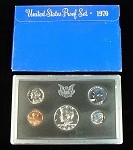 1970 UNITED STATES PROOF SET IN ORIGINAL MINT PACKAGE W/ SILVER HALF